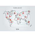 Polygonal abstract world map Abstract global vector image vector image