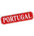 portugal red square grunge retro style sign vector image vector image