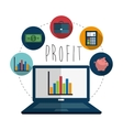 Profit icons design vector image vector image