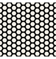 Seamless Black and White Rounded Hexagon vector image vector image