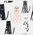 seamless childish pattern with funny leopards vector image vector image