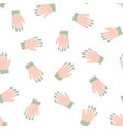 seamless pattern with rubber gloves on white vector image