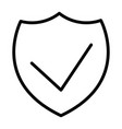 security shield pixel perfect thin line icon 48x48 vector image