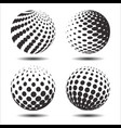 set abstract halftone 3d spheres 24 vector image vector image