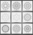 set ethnic ornamental floral pattern hand drawn vector image