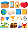 set game elements vector image