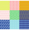 set of ethnic Greek geometric and floral patterns vector image vector image