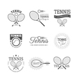 set tennis emblems vector image vector image