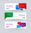 set white web banners with colored bubbles vector image vector image