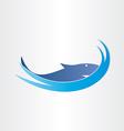 shark in ocean symbol design vector image vector image