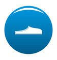 slippers icon blue vector image