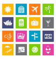 summer and travel icons vector image