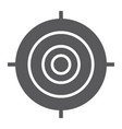target glyph icon focus and goal aim sign vector image vector image