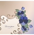 Template card with spring flowers vector image vector image