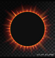 total solar eclipse on transparent vector image