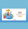 tourist web page traveling people traveler vector image vector image