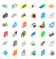 trading firm icons set isometric style vector image vector image