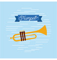 trumpet jazz instrument musical festival vector image vector image