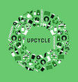 upcycling green modern flat icon upcycle concept vector image