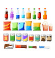 vending machine product items set flat food and vector image vector image