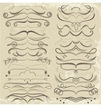 Vintage Set of calligraphic elements for design vector image