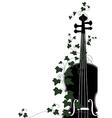 violin end ivy vector image vector image