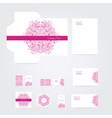 blank corporate identity set vector image