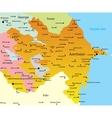 Map of Azerbaijan vector image