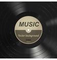 Music vinyl background vector image