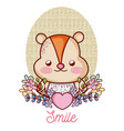 lovely hamster cartoon vector image