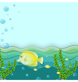 A group of yellow fishes under the sea vector image vector image