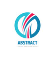 abstract ring - positive concept logo design vector image