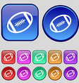 american football icon sign A set of twelve vector image