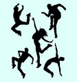 attractive modern dance male and female silhouette vector image vector image