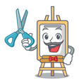 barber easel character cartoon style vector image vector image