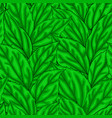 beautiful seamless background with green leaves vector image vector image
