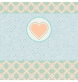Beautiful valentine card with heart EPS 8 vector image vector image
