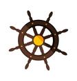 boat rudder icon vector image vector image