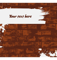 Brick wall background with paint stroke vector image