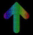 bright pixel arrow up icon vector image vector image