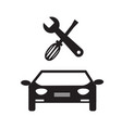 car service icon on white background car service vector image