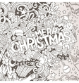Cartoon cute doodles hand drawn Merry Christmas