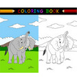 cartoon elephant coloring book vector image vector image