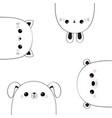 cat kitten bear dog puppy rabbit hare face head vector image vector image