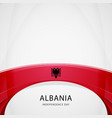 celebrating albania independence day vector image vector image