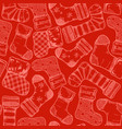 christmas stockings pattern vector image vector image