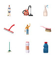 cleaning company icons set cartoon style vector image vector image