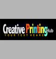 creative printing hub logo vector image vector image