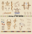 ethnic images of Native Americans vector image