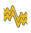 flowing wavy lines color icon fluid parallel vector image vector image